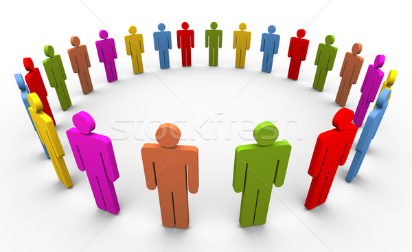 3d people in circle Stock photo © nasirkhan