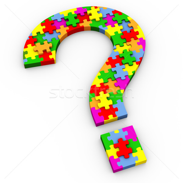 3d puzzle question mark Stock photo © nasirkhan