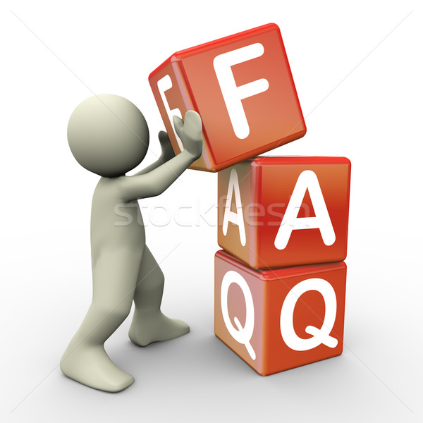 3d person and faq cube Stock photo © nasirkhan