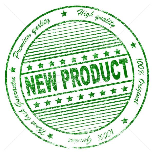 Grunge nuovo prodotto verde illustrazione Foto d'archivio © nasirkhan