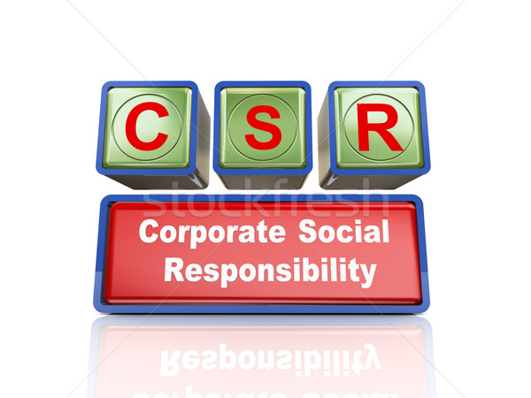 3d boxes of concept of csr Stock photo © nasirkhan