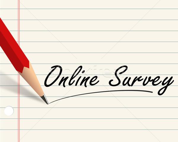 Lápis papel on-line exame ilustração escrito Foto stock © nasirkhan