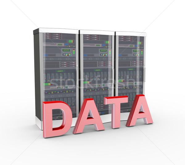 3d text data and computer network servers  Stock photo © nasirkhan