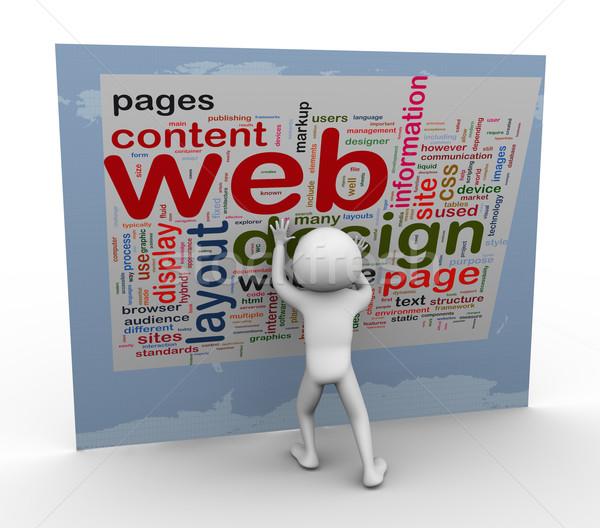 Wordcloud of Web design Stock photo © nasirkhan