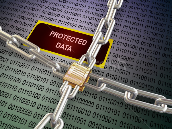 3d locked protected data Stock photo © nasirkhan