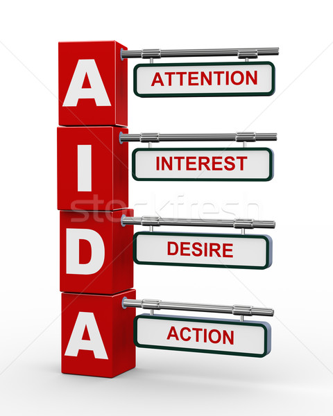 3d modern signboard of aida Stock photo © nasirkhan