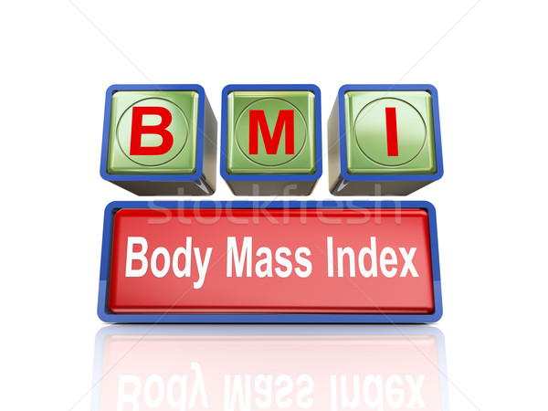3d boxes of concept of bmi Stock photo © nasirkhan