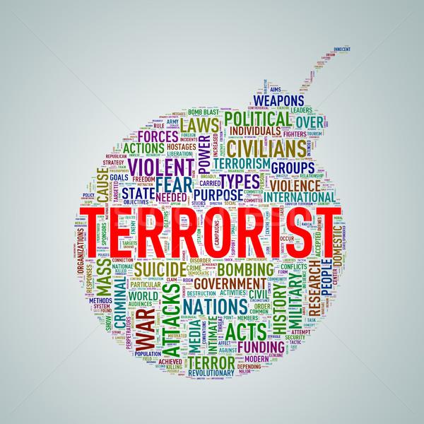 Bom vorm tag terrorist illustratie Stockfoto © nasirkhan