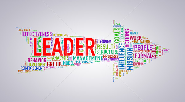Arrow shape wordtag wordcloud leader Stock photo © nasirkhan
