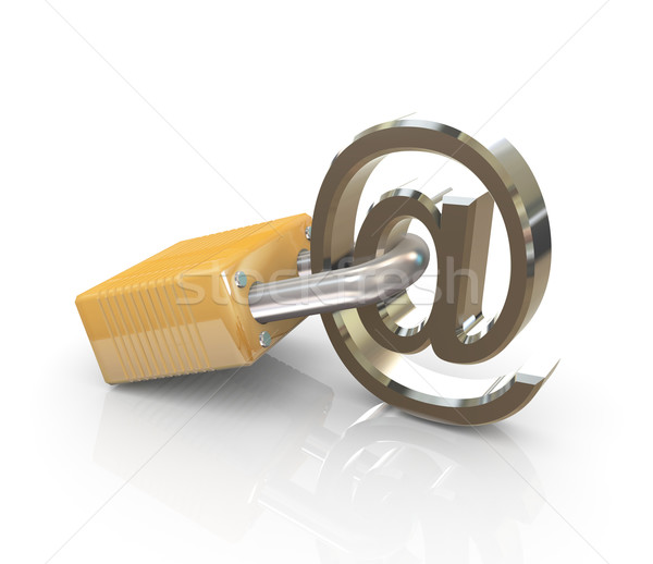 Email sign with lock Stock photo © nasirkhan