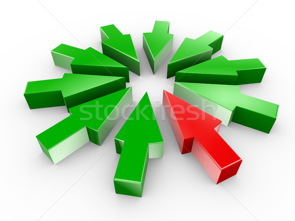 3d arrow in circle Stock photo © nasirkhan