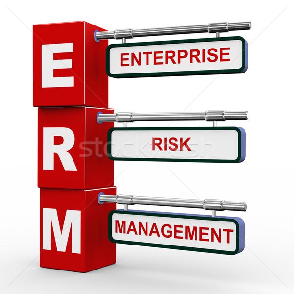3d modern signboard of erm Stock photo © nasirkhan