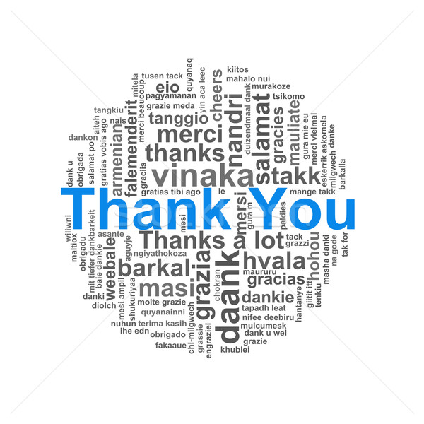 Thanks  circular word tags wordcloud Stock photo © nasirkhan