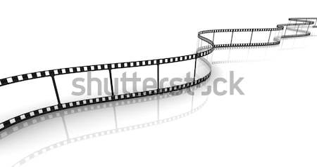Transparent bande de film 3D blanche film design Photo stock © nasirkhan