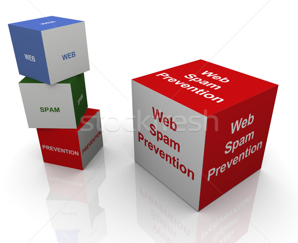Web spam prévention 3D technologie Photo stock © nasirkhan