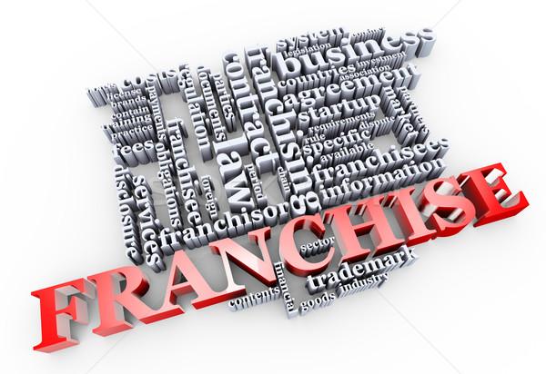 3d franchise wordcloud Stock photo © nasirkhan