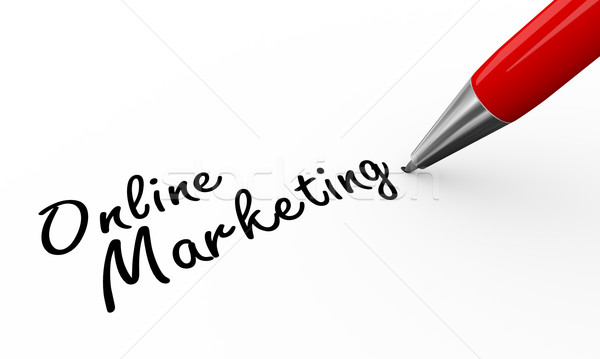 3d pen writing online marketing  Stock photo © nasirkhan