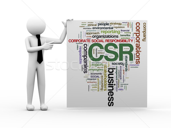 3d businessman with csr word tags Stock photo © nasirkhan
