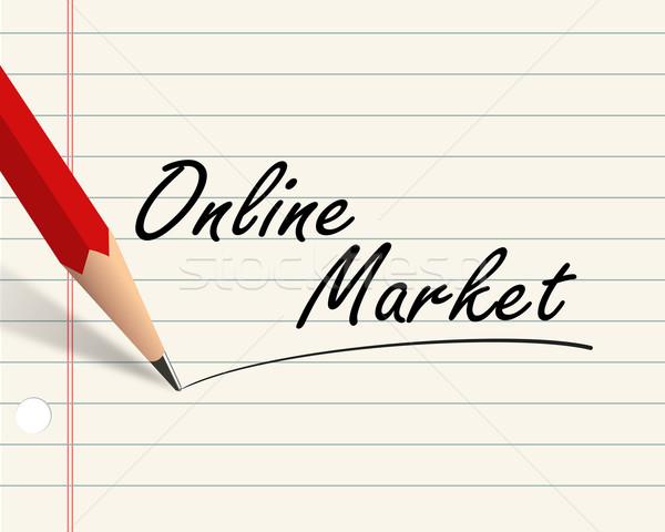 Pencil paper - online market Stock photo © nasirkhan
