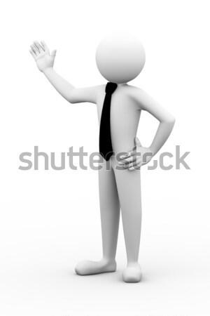 3d man microphone announcement speak Stock photo © nasirkhan