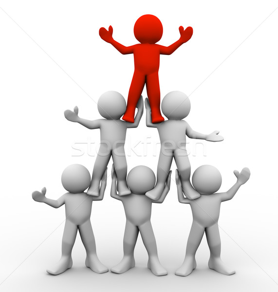 3d men pyramid Stock photo © nasirkhan