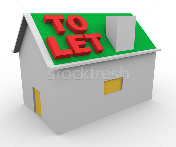 3d house to let Stock photo © nasirkhan