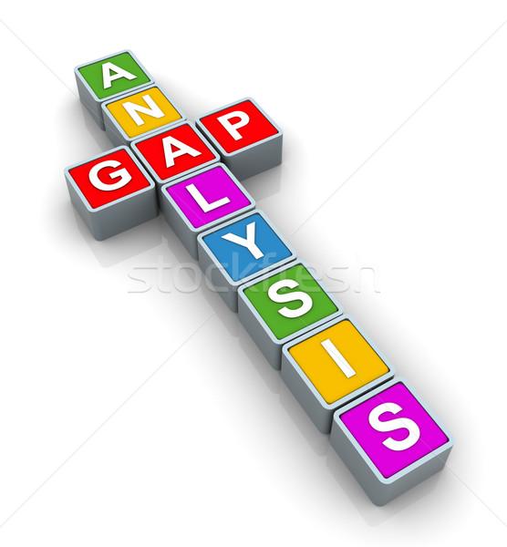 Stock photo: Buzzword gap analysis