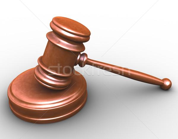 3D 小槌 3dのレンダリング 裁判所 ルーム 木材 ストックフォト © nasirkhan