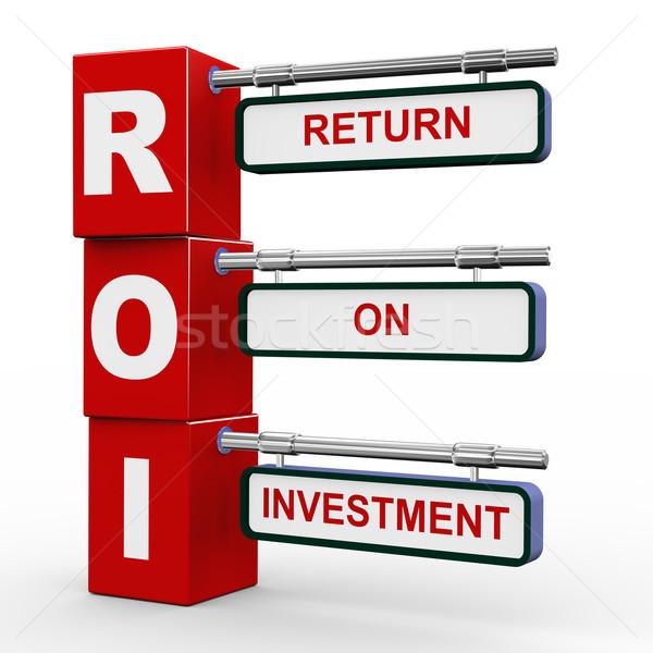 3d modern signboard of roi Stock photo © nasirkhan