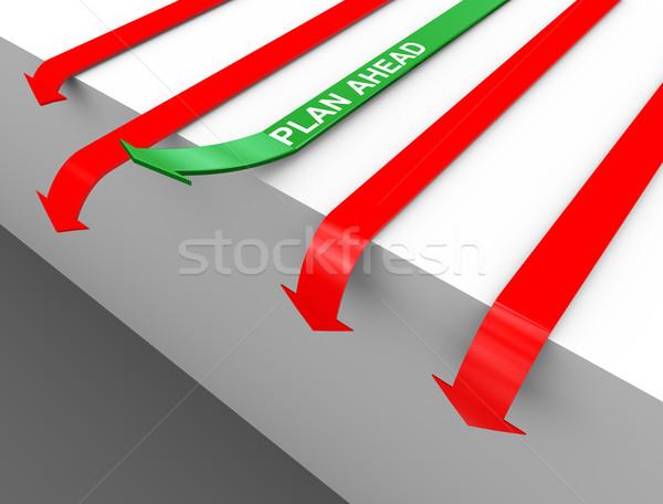 3d plan ahead arrow Stock photo © nasirkhan