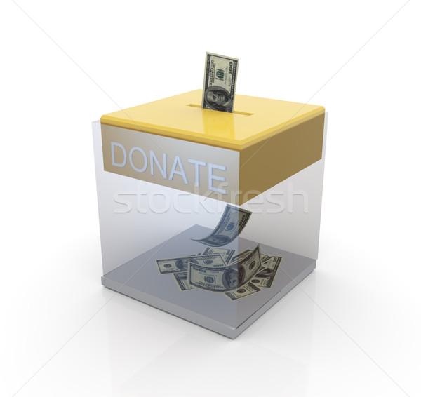 Transparent donation box Stock photo © nasirkhan