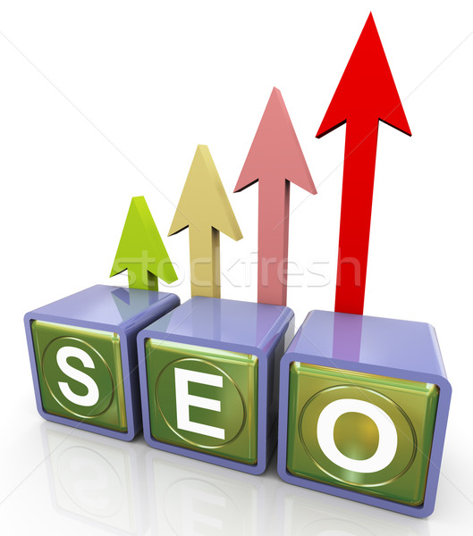 3d relfective seo text Stock photo © nasirkhan