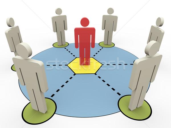 3d people communication Stock photo © nasirkhan