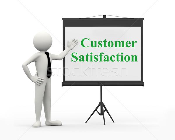 3d businessman - customer satisfaction Stock photo © nasirkhan