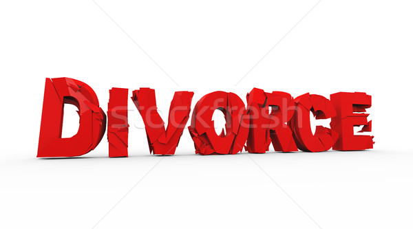 3d demolished word text divorce Stock photo © nasirkhan