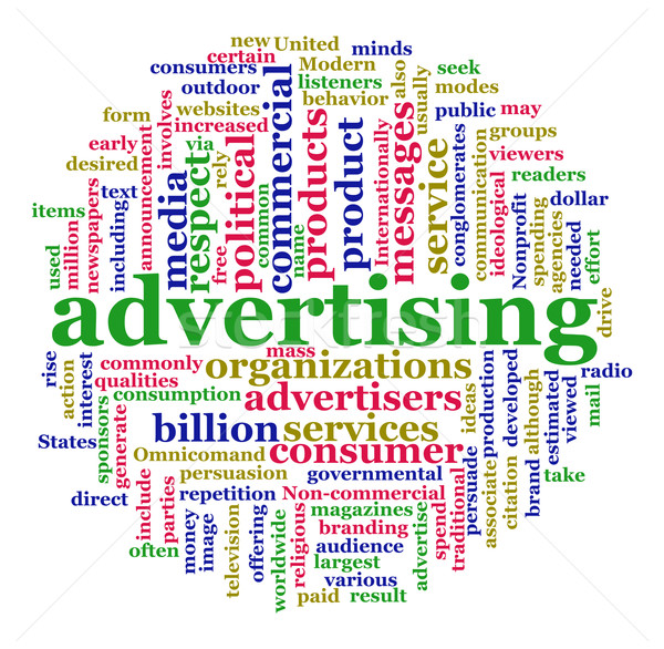 Word cloud of advertising Stock photo © nasirkhan