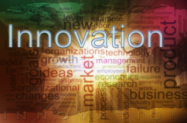 Innovation wordcloud Stock photo © nasirkhan