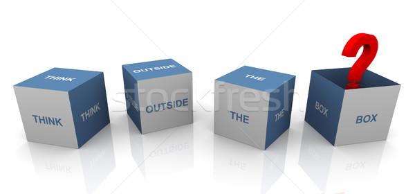Think outside the box Stock photo © nasirkhan
