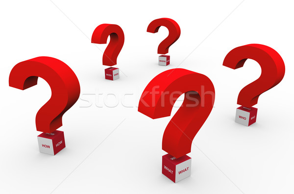 3d question marks words Stock photo © nasirkhan