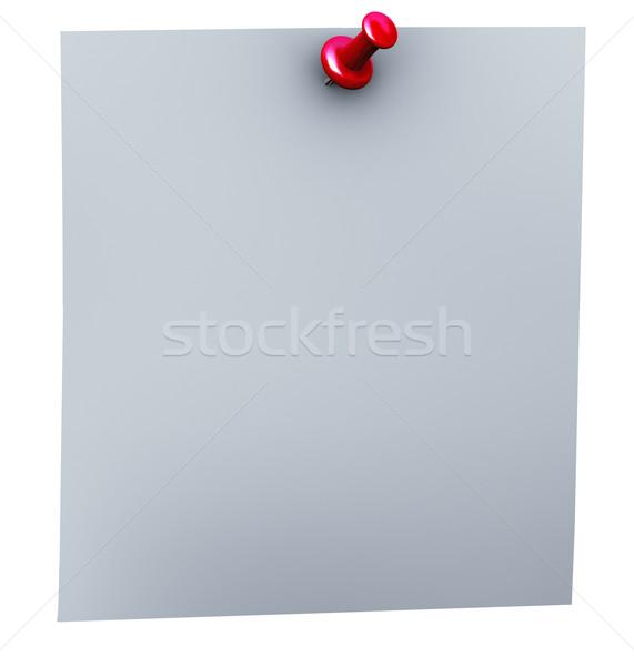3d red thumbtack Stock photo © nasirkhan