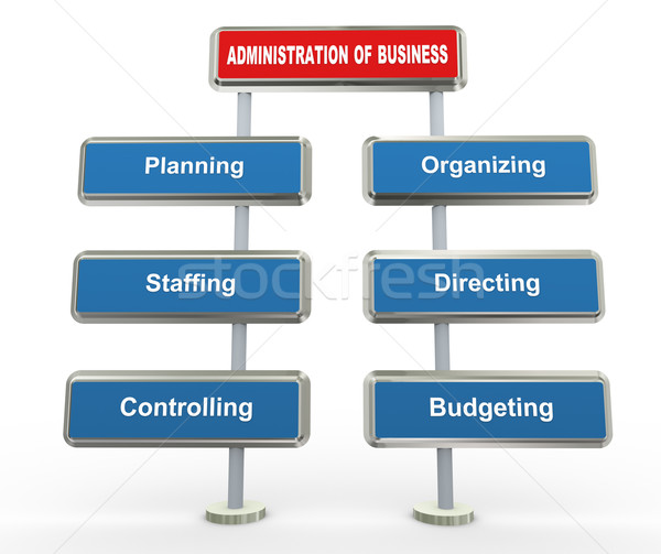 3d business administration Stock photo © nasirkhan