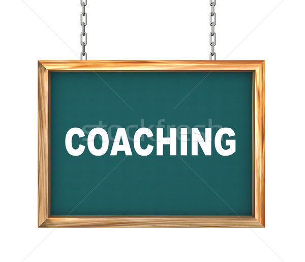 3d hanging banner - coaching Stock photo © nasirkhan