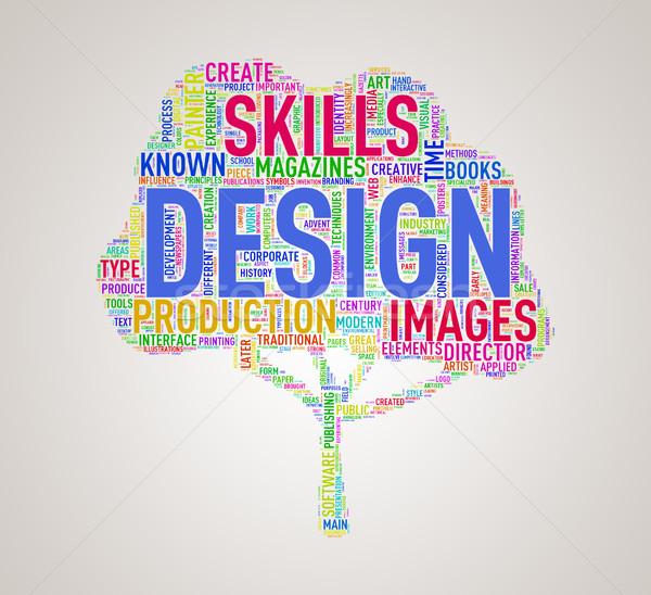 Tree shape wordcloud design Stock photo © nasirkhan