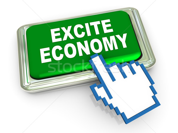 3d excite economy button Stock photo © nasirkhan