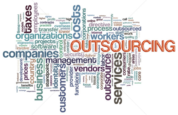 Wordcloud of outsourcing Stock photo © nasirkhan