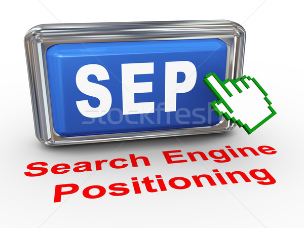 3d hand cursor sep - search engine positioning button Stock photo © nasirkhan