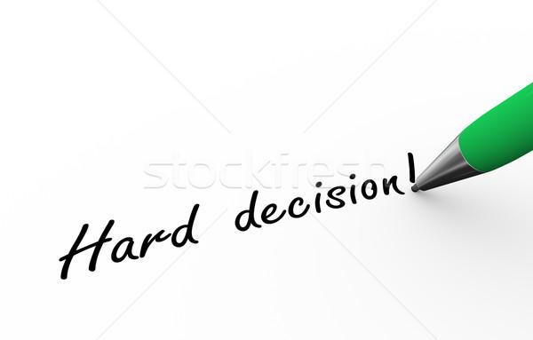 3d pen writing hard decision illustration Stock photo © nasirkhan