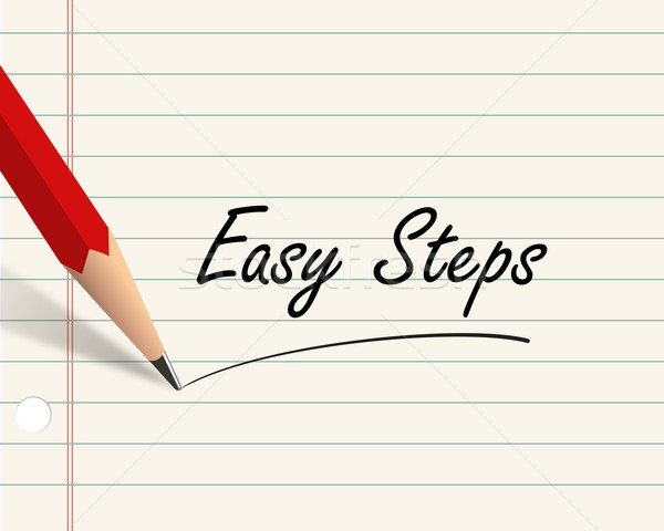 Pencil paper - easy steps Stock photo © nasirkhan