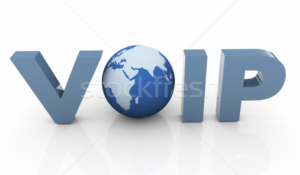 3D voip 3d render stem ip internet Stockfoto © nasirkhan