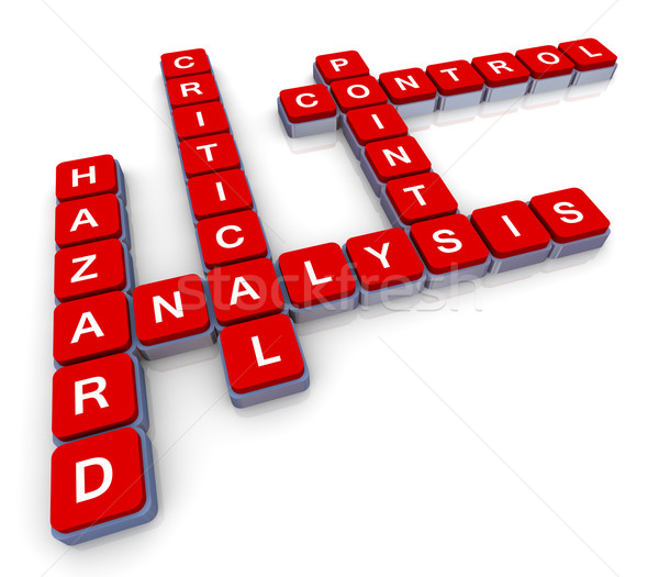 Crossword of haccp Stock photo © nasirkhan